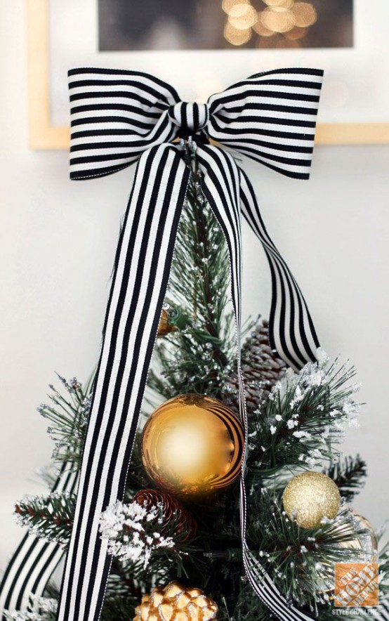 elegant black and gold christmas decor ideas - Elegant White Christmas Decorations