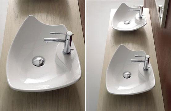 Elegant Colored Wash Basins Kong Scarabeo
