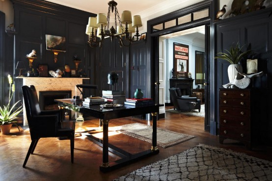 Elegant dark interior design in the 20s style digsdigs for Vintage art deco interior design