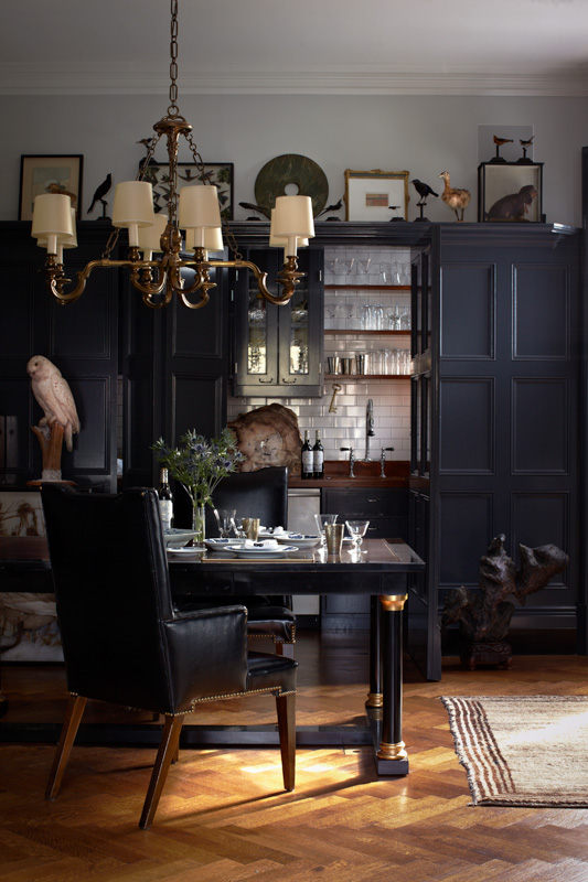 Elegant dark interior design in the 20s style digsdigs for The design home