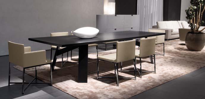 Elegant Dark Wooden Table – Clark By Minotti