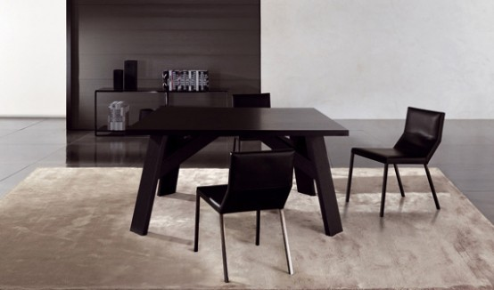 Elegant Dark Wooden Table – Clark By Minotti