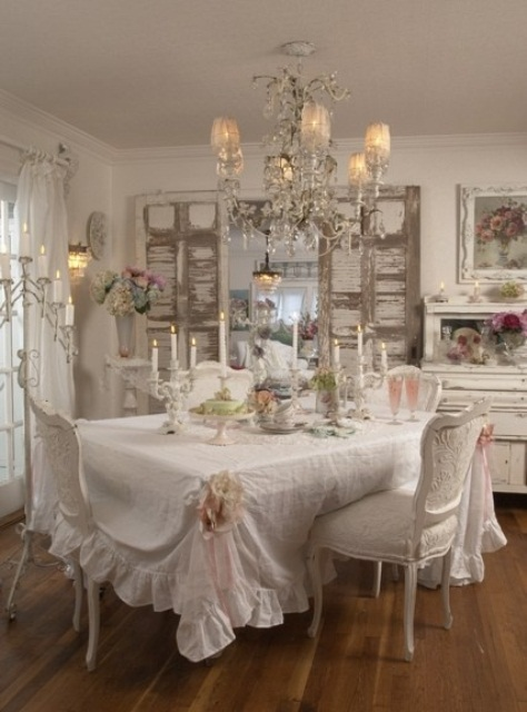 Romantic Cozy Bedroom: 44 Elegant Feminine Dining Room Design Ideas