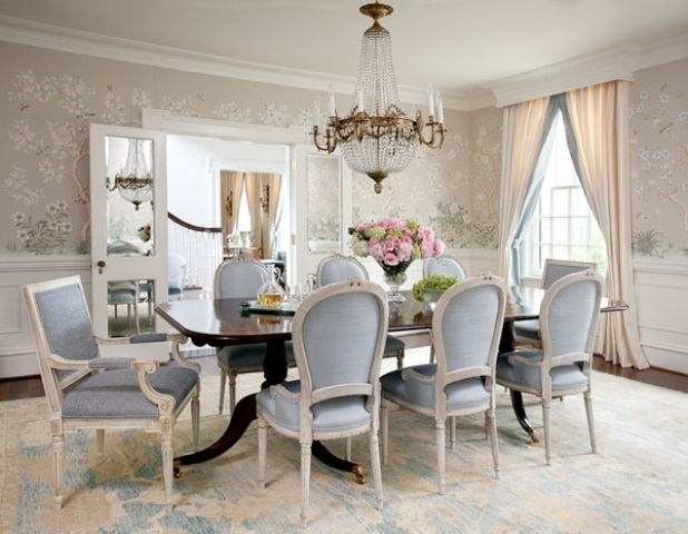 44 elegant feminine dining room design ideas digsdigs for Dining room interior ideas
