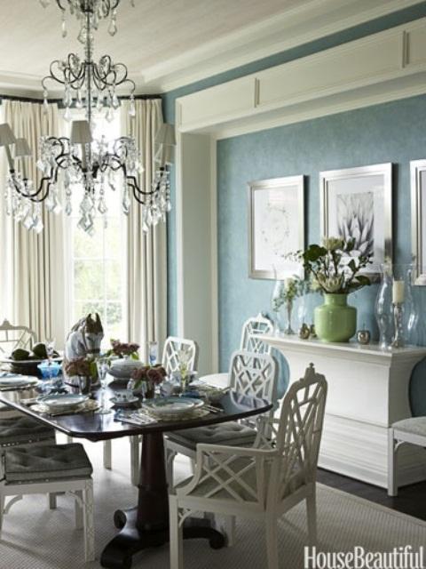 44 Elegant Feminine Dining Room Design Ideas