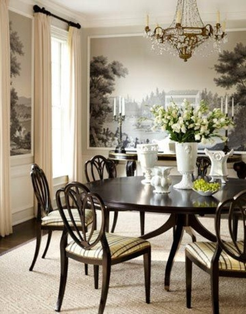 44 elegant feminine dining room design ideas digsdigs. Black Bedroom Furniture Sets. Home Design Ideas