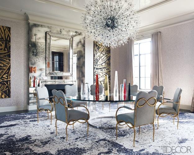 44 elegant feminine dining room design ideas digsdigs for Elegant dining room decor