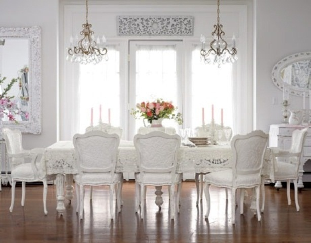 44 Elegant Feminine Dining Room Design Ideas | DigsDigs