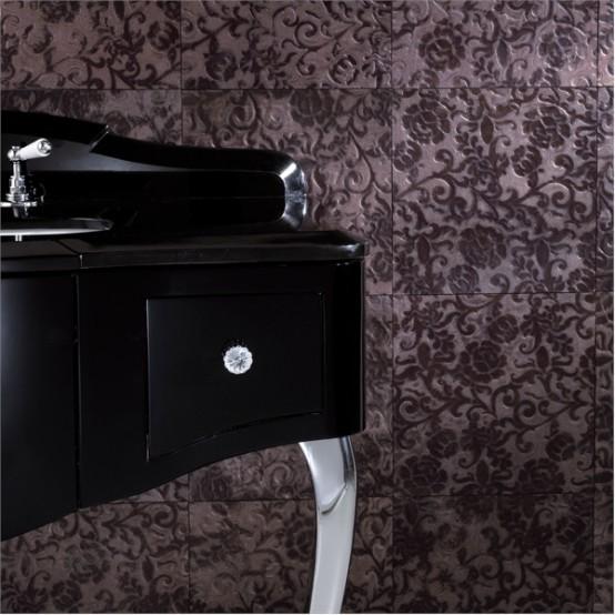 Elegant Furniture For Black And White Bathroom By Devon