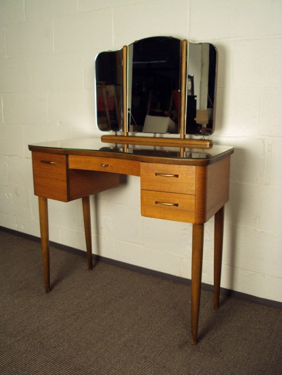 Cool Elegant Mid Century Dressing Tables