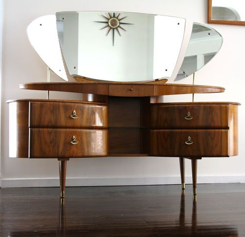 elegant makeup table. 30 Elegant Mid-Century Dressing Tables And Vanities Makeup Table B