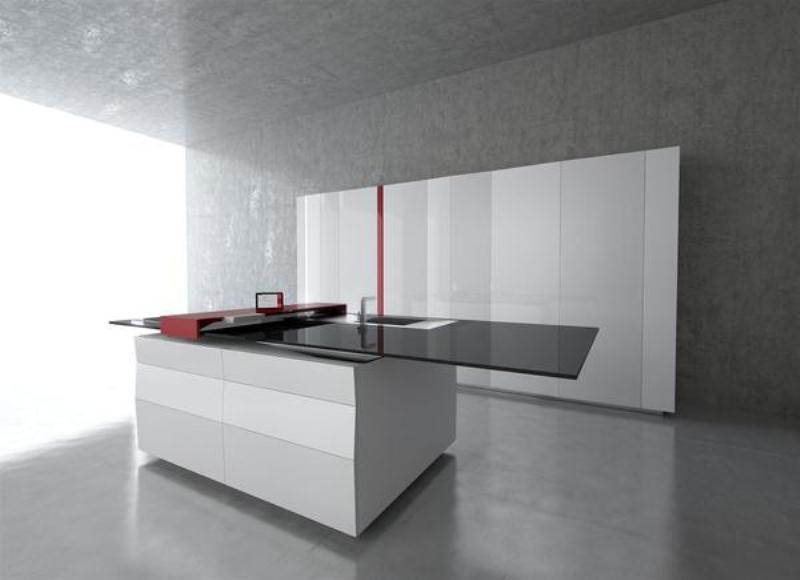 Elegant Minimalist Kitchen With High Technologies by Toncelli