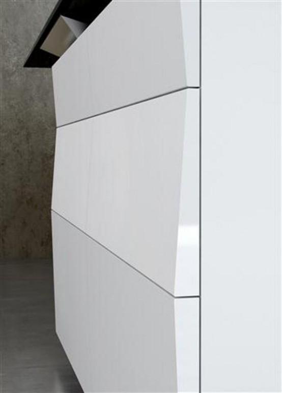 Elegant Minimalist Kitchen With High Technologies