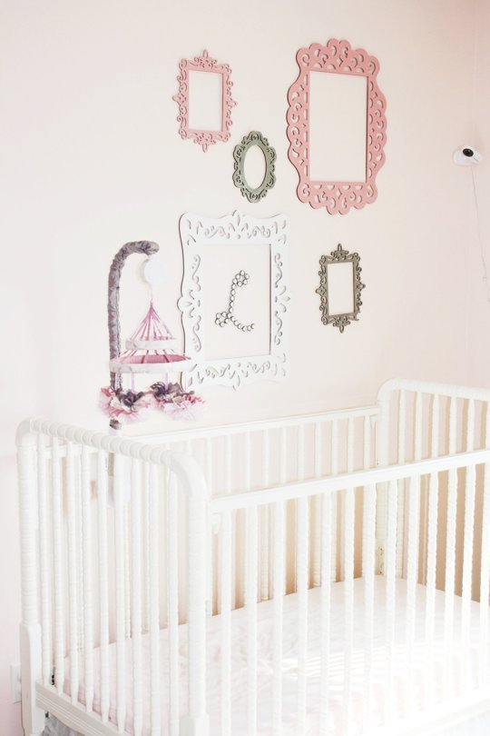Elegant Pale Pink Nursery Design With Delicate Details