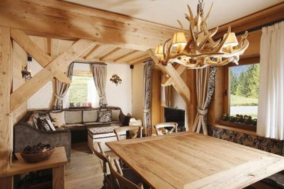 Elegant Rustic Apartment In Natural Wood   DigsDigs