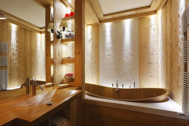 Elegant Rustic Apartment In Natural Wood