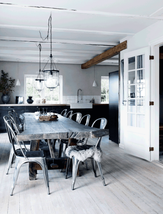 Elegant Rustic House In A Monochromatic Color Palette
