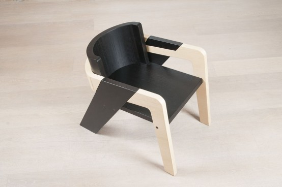 Self Assemble Furniture elegant self-assembly io chair from two-toned wood - digsdigs