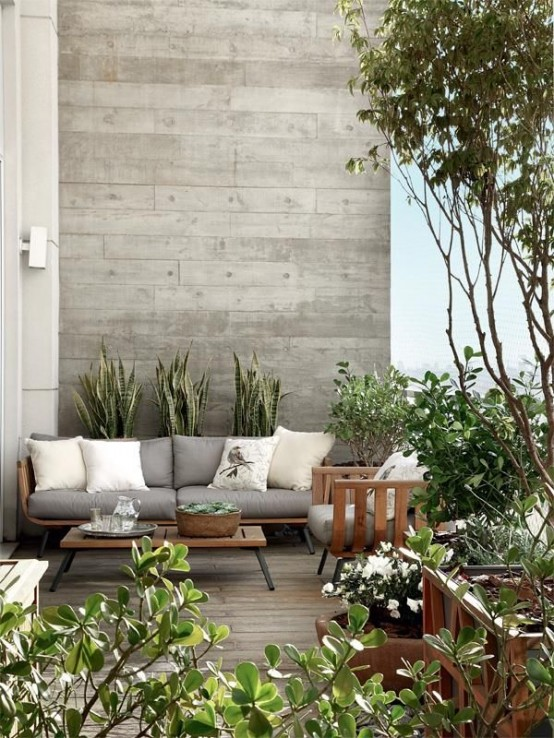24 Elegant Terrace And Patio Designs In Neutral Shades