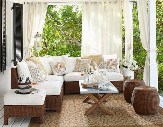 Elegant Terrace Designs In Neutral Shades