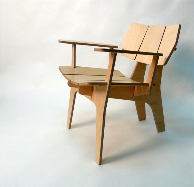 Wooden Lounge Chair That Can Be Assembled As A Puzzle