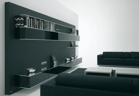 elevenfive minimalist wall system black