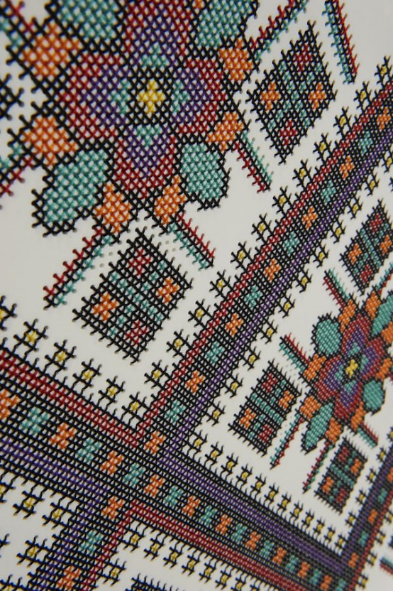 Embroidered Corian Furniture In Ukrainian Traditions