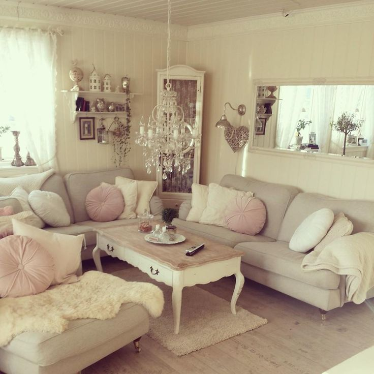 37 enchanted shabby chic living room designs digsdigs for Grey shabby chic living room ideas