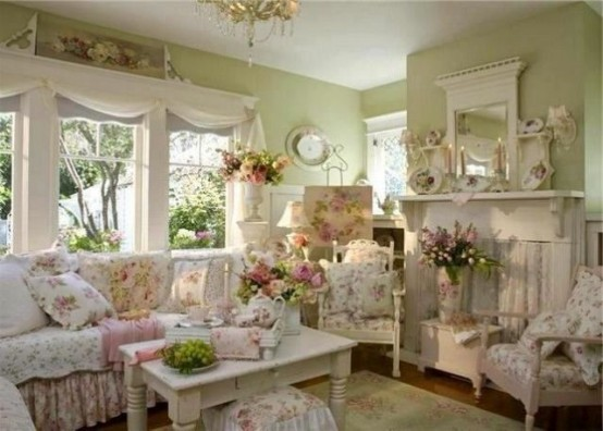 High Quality Enchanted Shabby Chic Living Room Designs