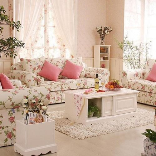37 enchanted shabby chic living room designs digsdigs. Black Bedroom Furniture Sets. Home Design Ideas
