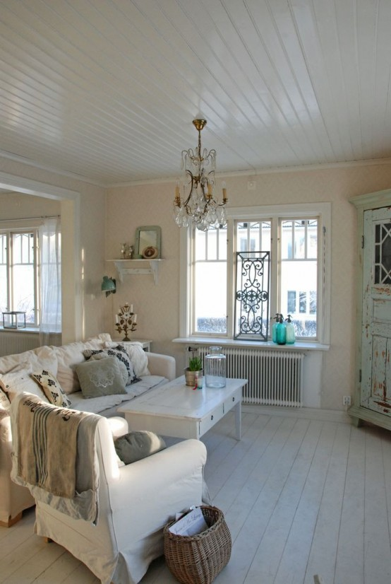 37 Enchanted Shabby Chic Living Room Designs - DigsDigs - photo#22
