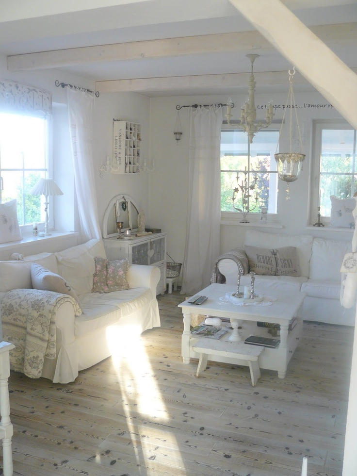 Enchanted shabby chic living room designs digsdigs Home design ideas shabby chic