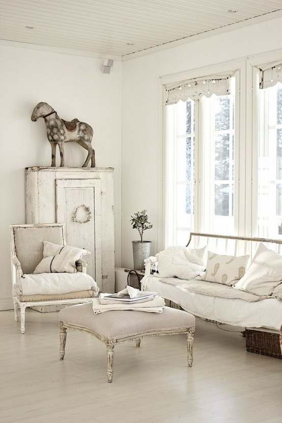 37 Enchanted Shabby Chic Living Room Designs - DigsDigs - photo#48