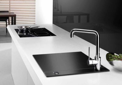 Minimalist Kitchen Sinks with Movable Cutting Board and Retractable