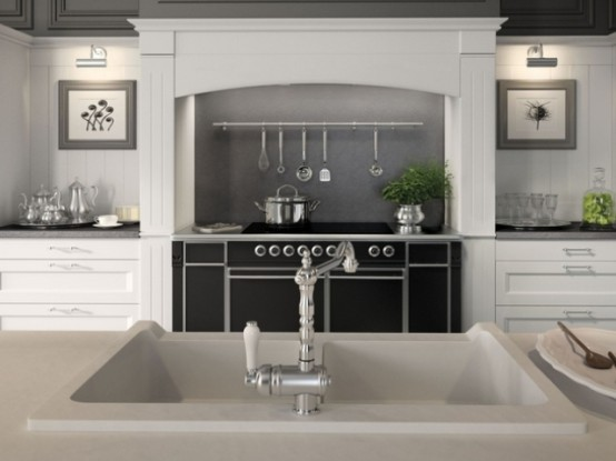 English Mood Kitchen With Country Chic Design