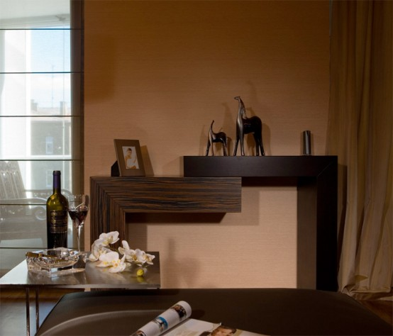Modern Apartment Interior in Brown Colors by ERGES