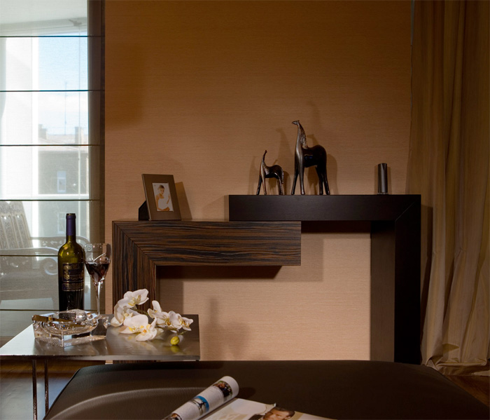 modern apartment interior in brown colors by erges digsdigs