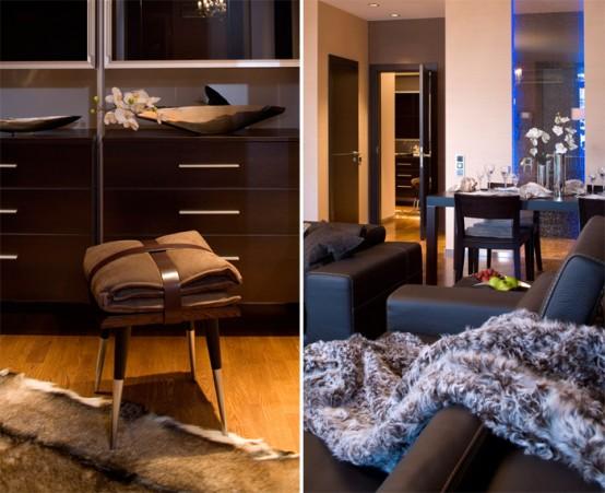 brown colored interior apartment