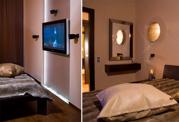 brown bedroom apartment