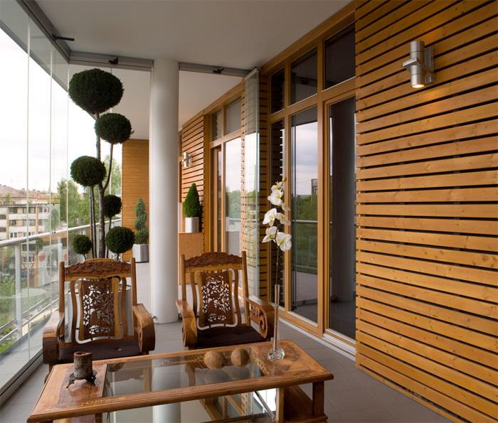 brown apartment terrace