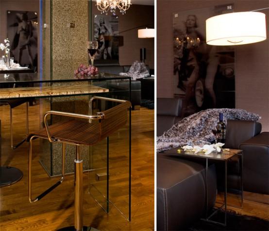 brown interior decor