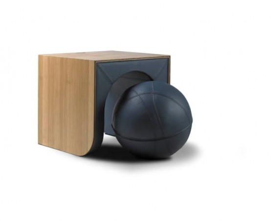 Ergonomic Chair And Table In e With A Ball DigsDigs