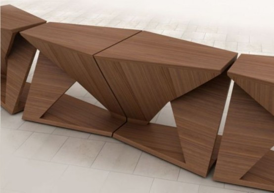 Ergonomic Coffee Table With 4 Separate Parts