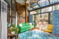even a small sunroom extension is great addition to any home (the mid-ceuntry look of this one is great)