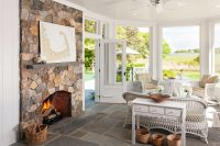 even standard ceilings works great in sunrooms especially if there is a brick fireplace