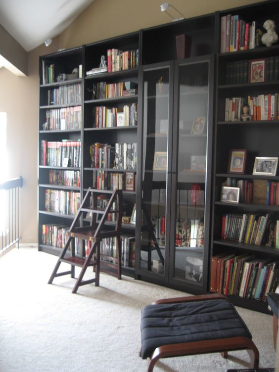 Library Room Ideas: 37 Awesome IKEA Billy Bookcases Ideas For Your Home