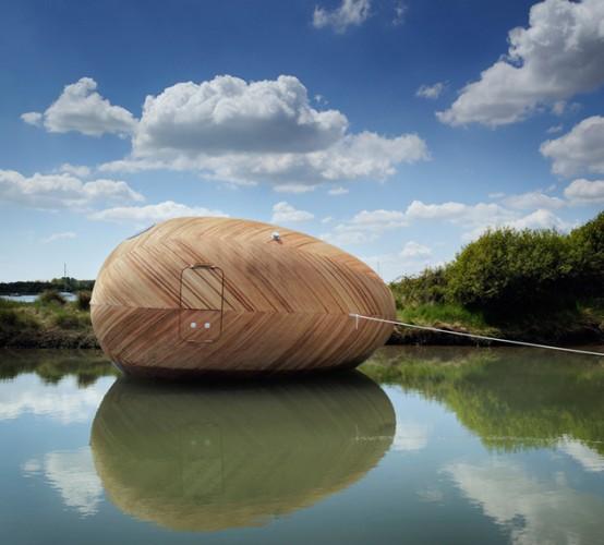 Exbury Egg Acquatic Pod For Ultra Minimal Living