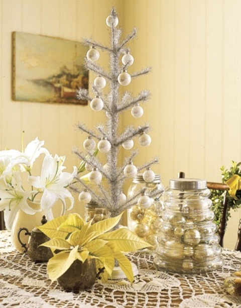 33 Exciting Silver And White Christmas Tree Decorations  ~ 145052_Christmas Decoration Ideas Silver And White