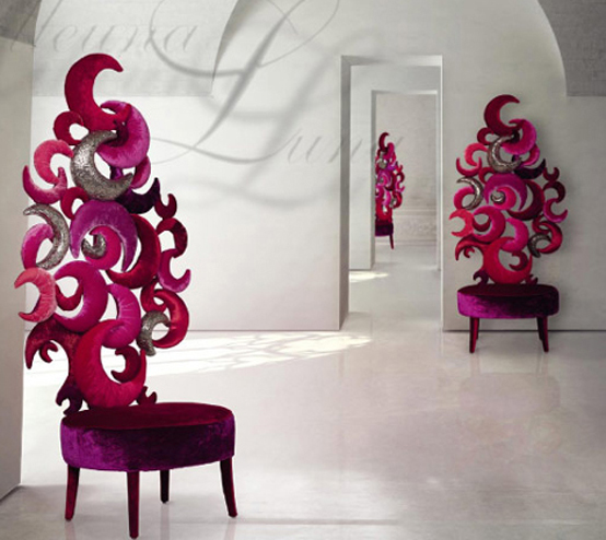 Exotic Seating Furniture For Glamour Or Surreal Interiors