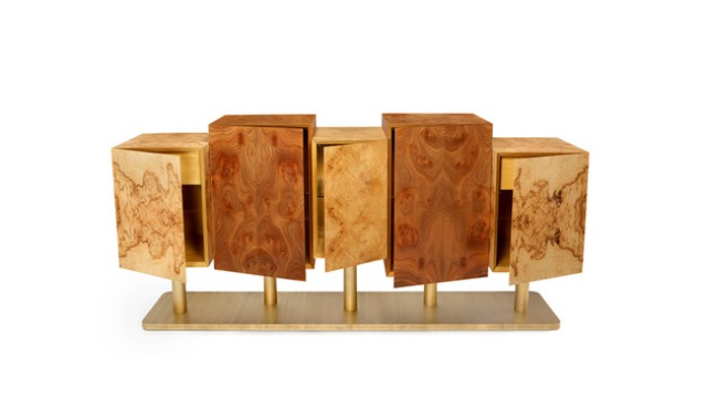 Exotic Tree Sideboard With A Mesmerizing Design